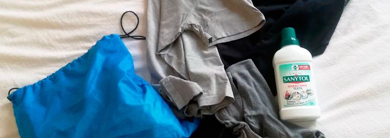 Como quitar el olor a sudor de la ropa
