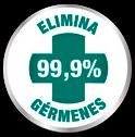 Elimina el 99% de los gérmenes
